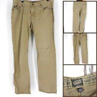 Vans Men's Casual Straight Jeans Button Closure Pants Comfort Skater Brown 34