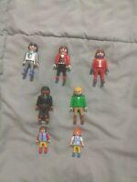 LOT 7 FIGURES PEOPLE PLAYMOBIL GEOBRA Misc Themes Vintage Fig Kid Knight Toy