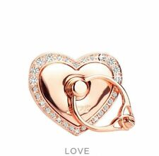 Universal 360 Rotating Finger Ring Stand Holder For Cell Phone - ROSE GOLD HEART