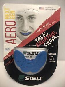 Sisu Aero Next Gen Mouthguard Adult Electric Blue 16mm Thin Custom Fit
