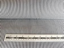 BLACK AND WHITE THIN CANDY STRIPE POLY COTTON FABRIC BY THE METRE - FREE POSTAGE