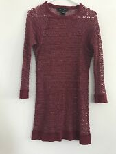 isabel marant top cotton blend maroon size 3