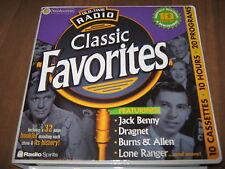 Old-Time Radio Classic Favorites (2002, Cassette / Unabridged) 10 cassettes