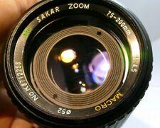 Sakar 75-200mm f4.5 manual focus Lens for Nikon Ai-S wide angle for FE FM