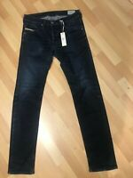 NWD Mens Diesel BELTHER STRETCH Denim 0R8E4 DARK BLUE SLIM W31 L32 H6 RRPEUR170