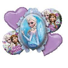 5 Piece Disney Frozen Anna Elsa Mylar Birthday Balloon Bouquet Party Supplies