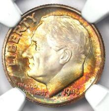 1946-D Roosevelt Dime 10C - Certified NGC MS68 FT - Rare MS68 FB - $1,500 Value!
