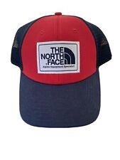North Face Men's Adult Mesh Trucker Adjustable Snapback Blue Red Cap Hat New