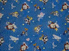 "Vintage 1998 Warner Bros Looney Tunes Baby Fabric Material 44""x145"" Art Craft"