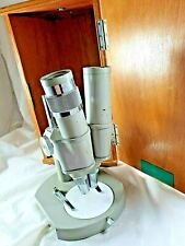 New listing 1960's Vintage Japan Clinical Microscope With Oak Case All Working
