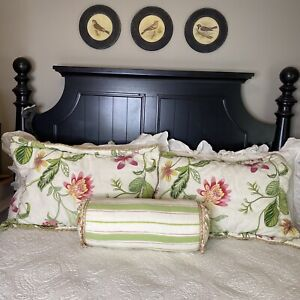 Croscill Home Bedding Hibiscus Collection Bolster Pillow Cottage French Country