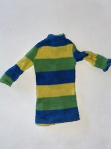 Rare Vintage Mattel TWIGGY ORIGINAL Striped DRESS Only #1185 HTF Barbie