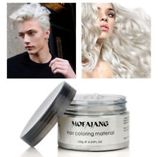 White Color Hair Wax Mud Disposable Hair Dye Styling Cream USPS-4DAYS DELIVERY