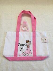 Lillian Rose Flower Girl TOTE Wedding Toddler Baby Flower Girl Bracelet Charm