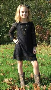 Flower Girl Dress, Lace Dress 3/4 Sleeve Dress (White, 0-3, Black, Size 12.0