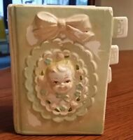 Vintage Ceramic book-shaped BABY Bank Made In Japan