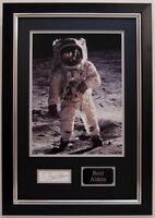 Buzz ALDRIN Signed Autograph FRAMED Apollo 11 Moonwalker Astronaut AFTAL COA B