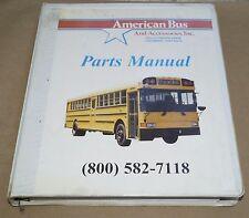 1999 American Bus & Accessories OEM Parts Catalog Manual