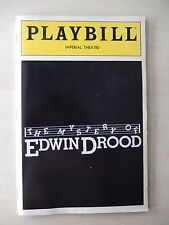 November 1985 - Imperial Theatre Playbill w/Ticket - The Mystery Of Edwin Drood