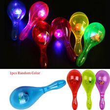 Light-Up Musical Maracas Flashing LED Autism Sensory Blinking Toy Party Random
