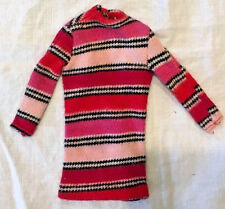 RARE Barbie SHARP SHIFT - GROOVY GET UPS - 1968 pink dress red striped Francie