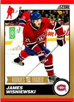 JAMES WISNIEWSKI 2010-11 Score Rookies and Traded Gold #592 ($0.75 MAX SHIP)