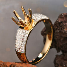 Semi Mount Ring 14K Gold 1.40ct Diamond Solitaire with Accents Engagement
