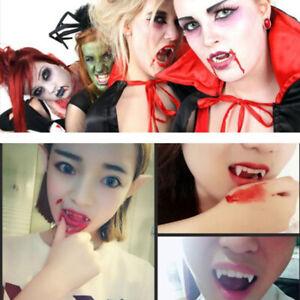 Joke Prank Teeth with Blood Vampire Tooth Caps with Blood Capsules: