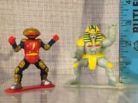 "Vtg Lot Of 2 Mighty Morphin Power Rangers 2.5"" Action Figures 1993 Bandai Saban"