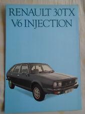 Renault 30TX V6 Injection brochure Mar 1979