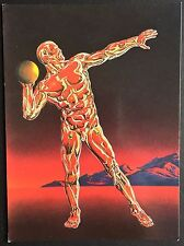 POSTCARD Unposted SHOT-PUTT by PETER GOODFELLOW 9451 Athena SPACESHIP Art A2
