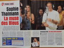 SOPHIE THALMANN Miss France EMMANUEL PETIT Coupure presse 5 pages 1999 Clippings