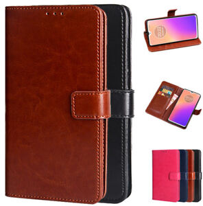 Luxury PU Leather Wallet Card Flip Stand Cover Case For Motorola Moto G7