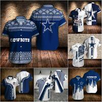 Dallas Cowboys Hawaiian Shirts Summer Casual Short Sleeve Button-Down Shirts Tee