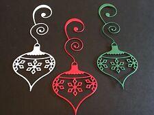 6 X dado corta Luca Ornamento (varios colores) Ideal Para Tarjetas De Navidad/Toppers