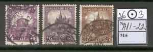Hungary 0194 used 1926 set 3v Castle Architecture