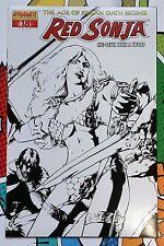 RED SONJA #18 D Black and White Sketch Variant - Dynamite - Age of Kulan Gath