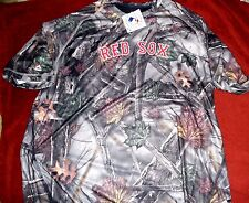 """RED SOX """"MAJESTIC AUTHENTIC COOLBASE"""" WOODLAND CAMO SHIRT MEN'S XLARGE NEW $50"""