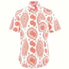 Camisas y polos de hombre naranjas blancos