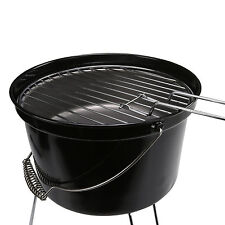 `Portable Lightweight Camping Charcoal Bucket Garden Grill Picnic BBQ Barbecue