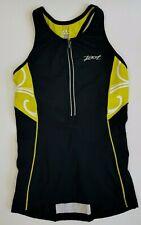 Zoot Sports Women's 1/2 Zip Ultra Tri Triathlon Cycling Tank Top w/ Bra ~Small