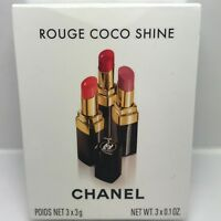CHANEL Rouge Coco Shine Hydrating Sheer Lipshine TRIO # 69, # 91, # 90