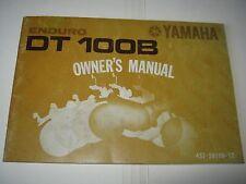 YAMAHA OWNERS RIDERS MANUAL DT 100B ENDURO VINTAGE 1975 OEM ORIGINAL