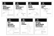 HYDRO-FIT Illustrated Exercise Guides Package Pilates Workout Water Aerobics 433