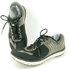 Men's Brooks Pure Flow 6 1102471D092 Black Lace-up Running Shoes Size 9.5 M
