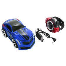 2.4G Voice Command Car Smart Watch Remote Control RC Racing Toy Car Blue New