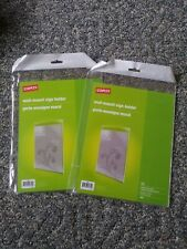 """Set of 2 Wall Mount Acrylic Sign Holders 8.5"""" x 11"""" Staples #16651 Vertical Hang"""