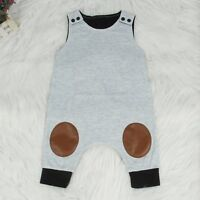 Newborn Infant Baby Boy Girl Cotton Romper Bodysuit Jumpsuit Outfit Clothes 0-2Y
