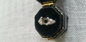 Vintage size 6 engagement ring setting, Platinum, CENTER STONE NOT INCLUDED