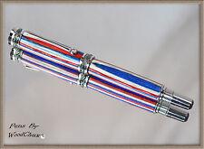 Handmade One Of A Kind Color Grain Wood Writing Fountain Pen Beautiful Art 687